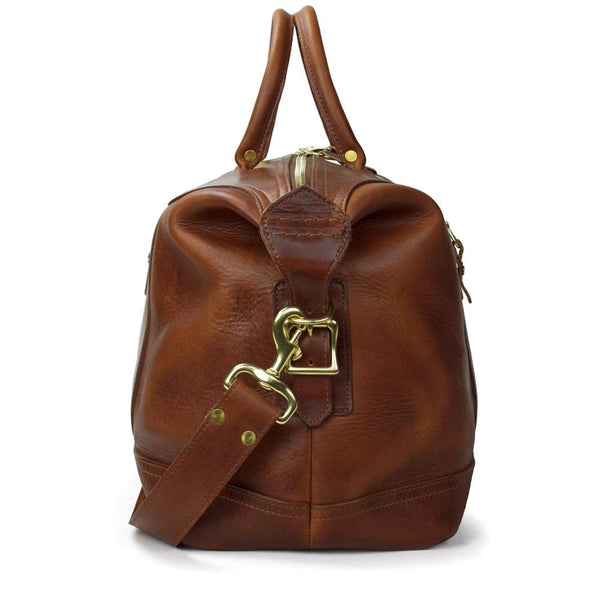 J. W. Hulme Co. Weekend Satchel, American Heritage Brown Leather
