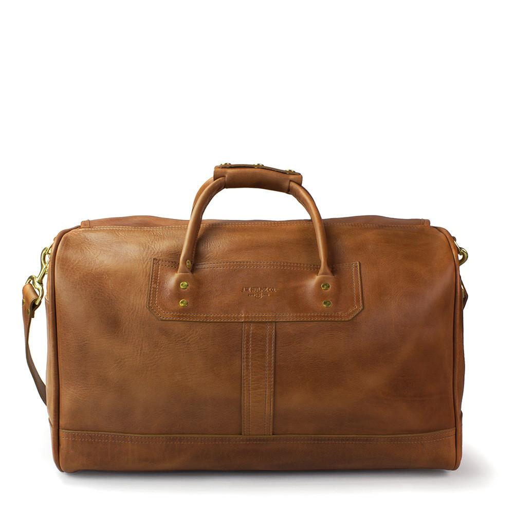 J. W. Hulme Co. Small Classic Duffle Bag, Saddle Heritage Tan Leather Leather Bag J. W. Hulme Co