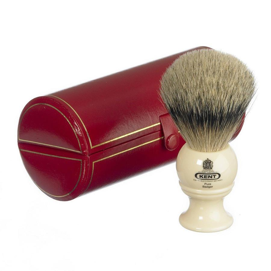Kent BK4, Medium Silvertip Shaving Brush Badger Bristles Shaving Brush Kent