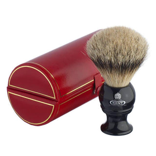 Kent BLK8, Large Silvertip Shaving Brush Badger Bristles Shaving Brush Kent