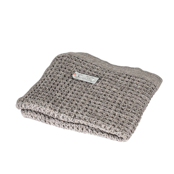 Kontex Cotton Lattice Towel, Grey