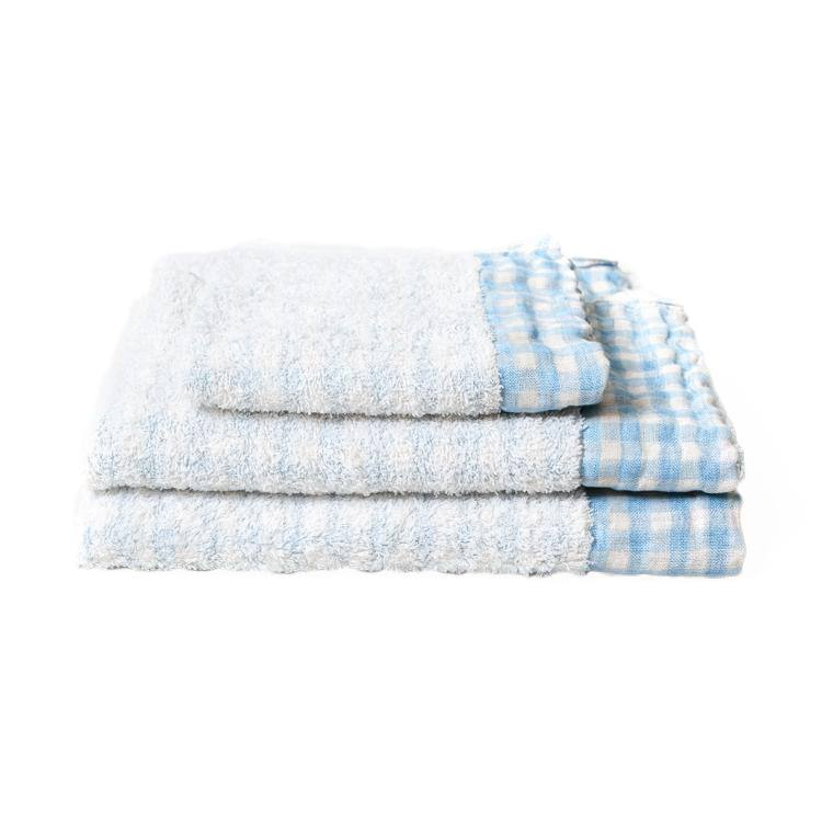 Kontex Lino Towel, Light Blue Towel Japanese Exclusives