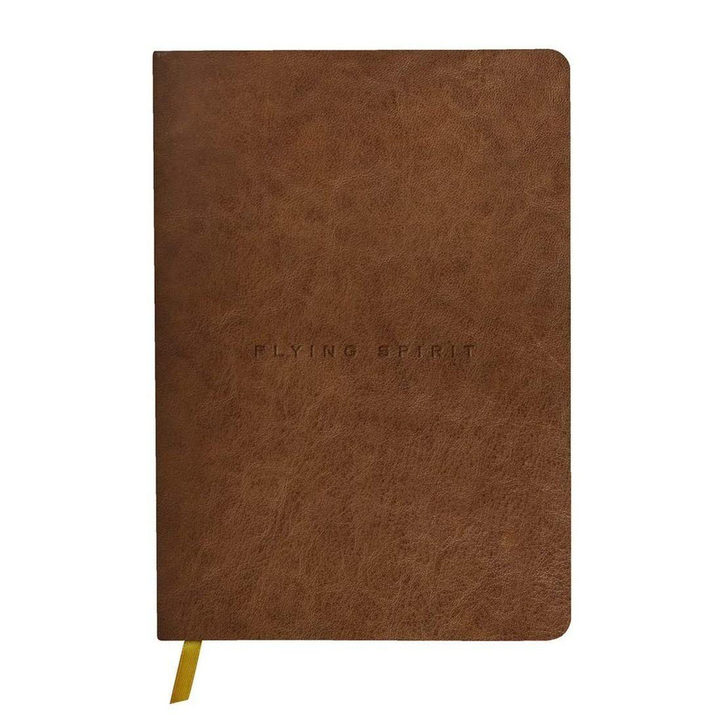 Clairefontaine Flying Spirit Journal, Cognac Leather Notebook Clairefontaine