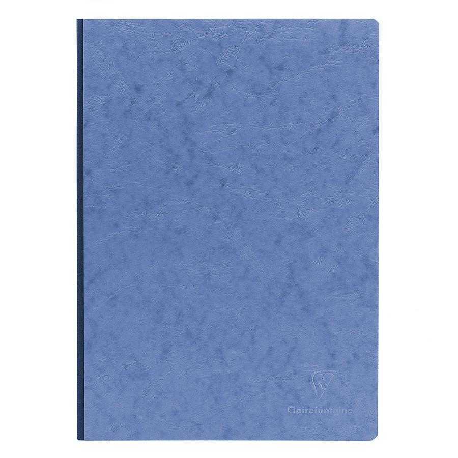 Clairefontaine Basics 8 x 11 Clothbound Notebook in Blue, Lined Notebook Other