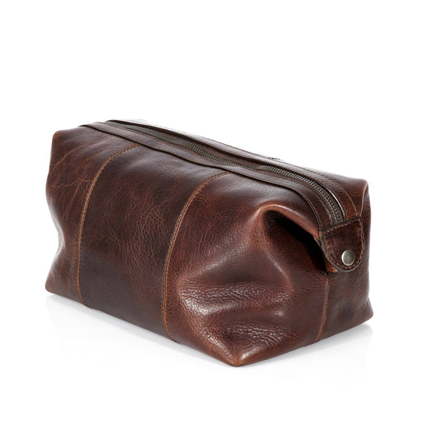Leonhard Heyden Roma Toiletry Kit, Brown Leather - Fendrihan - 3