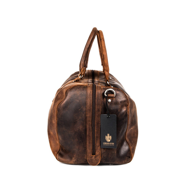 Leonhard Heyden Salisbury Travel Bag, Brown Leather - Fendrihan - 3