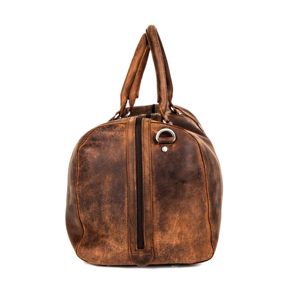 Leonhard Heyden Salisbury Travel Bag, Brown Leather Leather Bag Leonhard Heyden