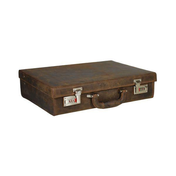 Leonhard Heyden Salisbury Attache Case, Brown Leather Leather Bag Leonhard Heyden