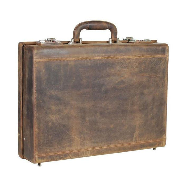 Leonhard Heyden Salisbury Attache Case, Brown Leather - Fendrihan - 1