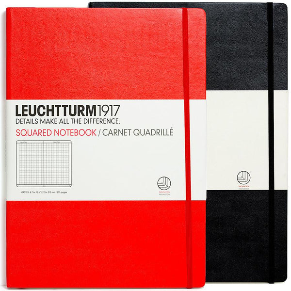 Leuchtturm1917 Master Classic Hard Cover Notebook, Squared - Fendrihan - 1