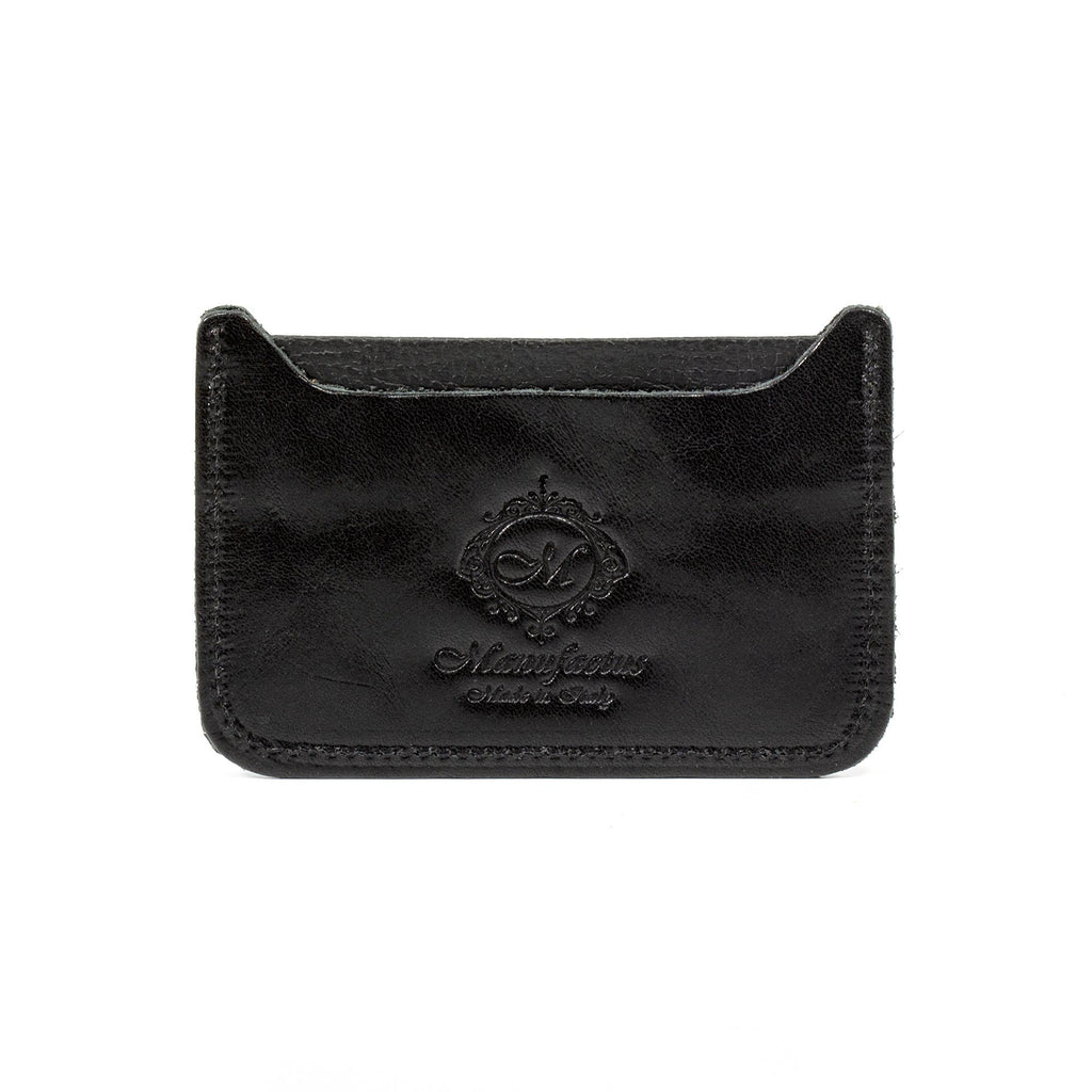 Manufactus Basic Leather Credit Card Holder Leather Wallet Manufactus by Luca Natalizia Black