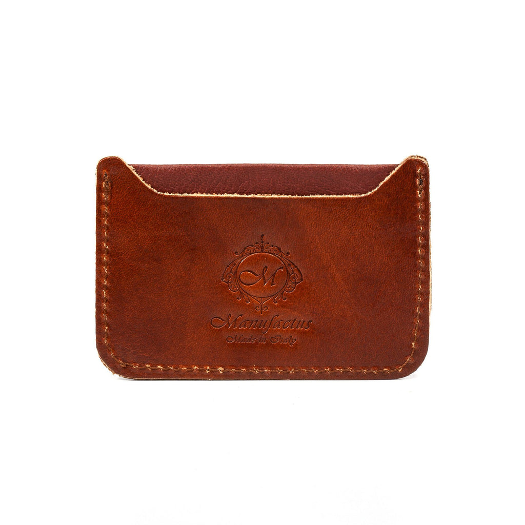 Manufactus Basic Leather Credit Card Holder Leather Wallet Manufactus by Luca Natalizia Cognac