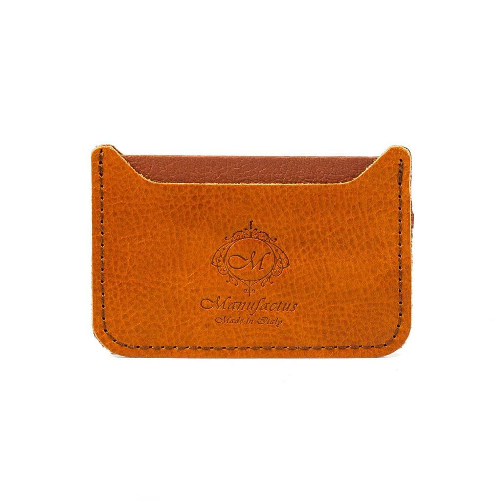 Manufactus Basic Leather Credit Card Holder Leather Wallet Manufactus by Luca Natalizia Whiskey