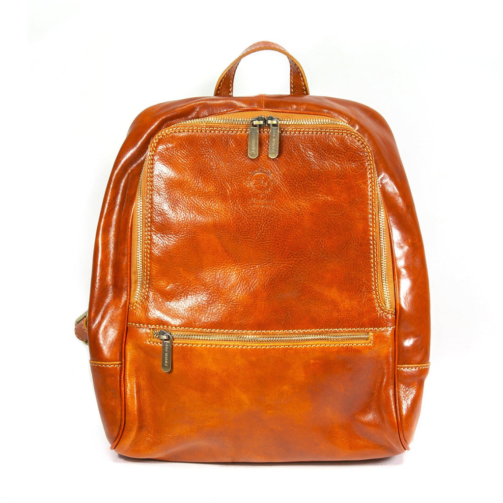 Manufactus Biga Leather Backpack Backpack Manufactus by Luca Natalizia Cognac