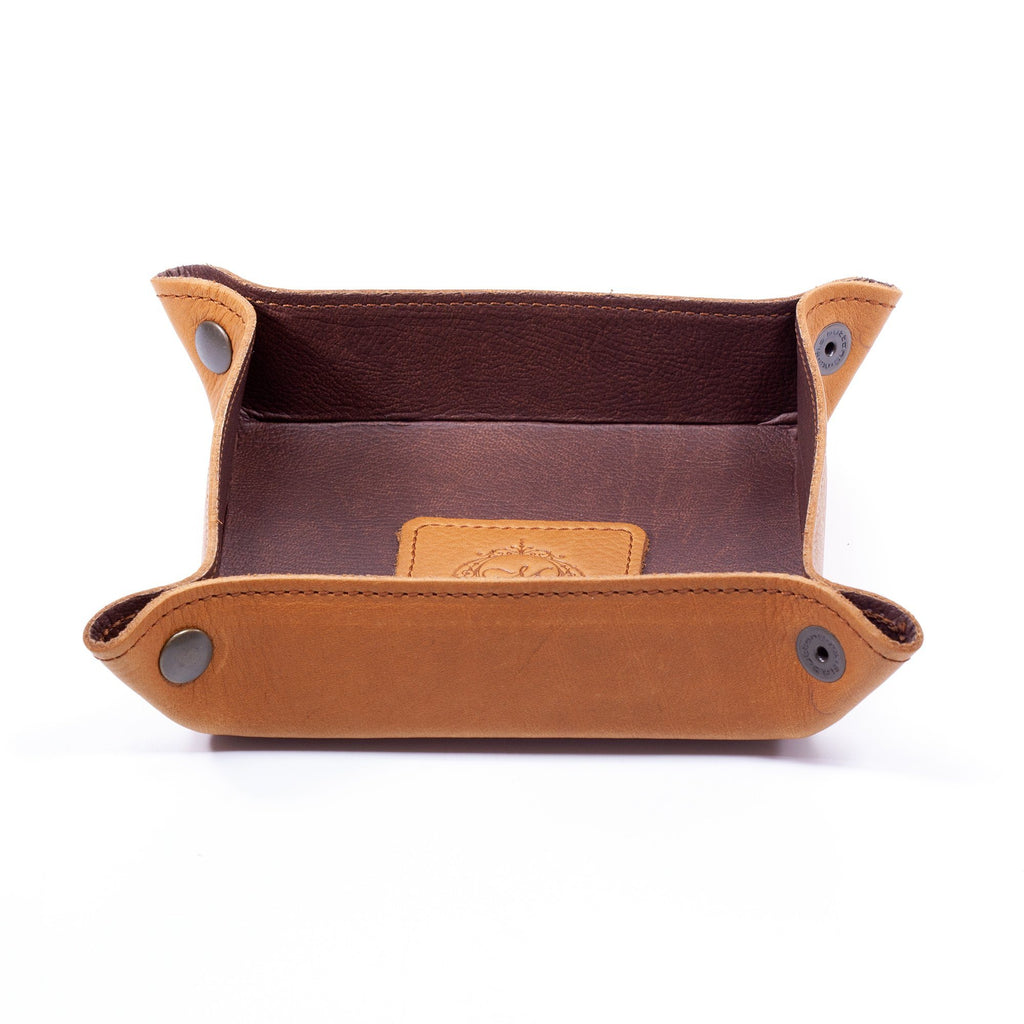Manufactus Catch All Leather Tray Leather Travel Tray Manufactus by Luca Natalizia Brown