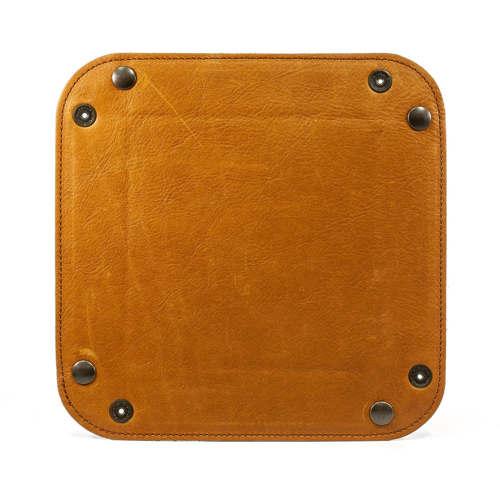 Manufactus Catch All Leather Tray Leather Travel Tray Manufactus by Luca Natalizia