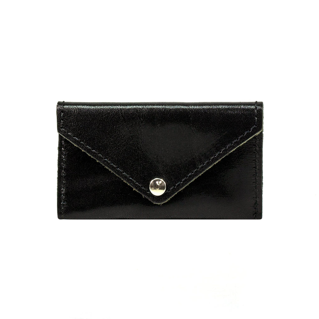 Manufactus Leather Coin Purse Leather Wallet Manufactus by Luca Natalizia Black