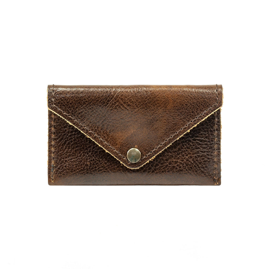 Manufactus Leather Coin Purse Leather Wallet Manufactus by Luca Natalizia Dark Brown