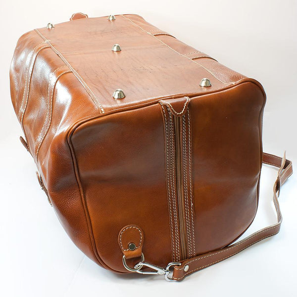 Manufactus Augusto Large-Size Leather Travel Bag, Honey - Fendrihan - 4