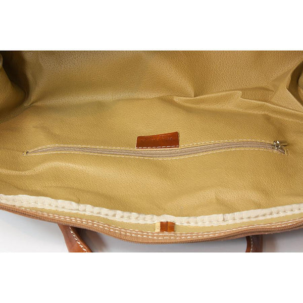 Manufactus Augusto Large-Size Leather Travel Bag, Honey - Fendrihan - 5
