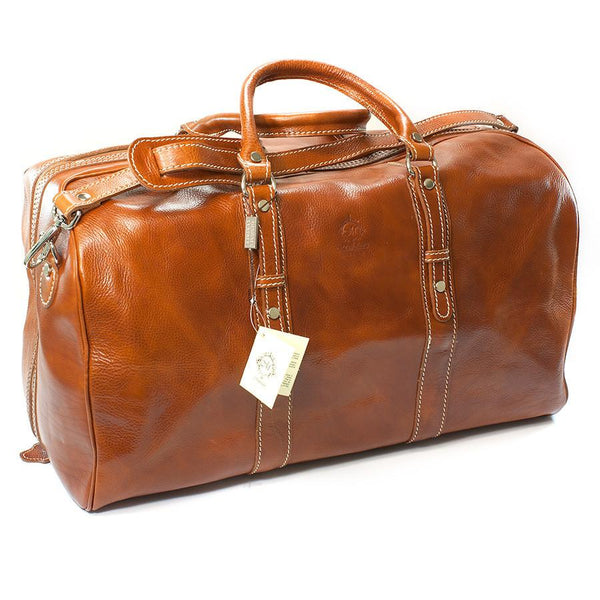 Manufactus Augusto Large-Size Leather Travel Bag, Honey - Fendrihan - 2