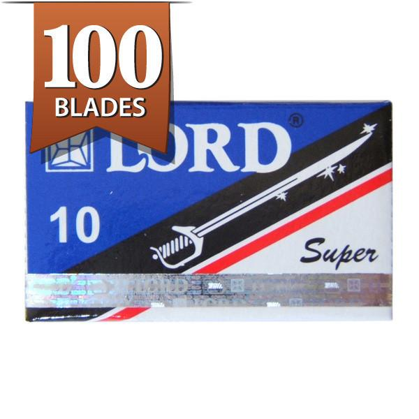 100 Lord Super Stainless Double-Edge Safety Razor Blades - Fendrihan