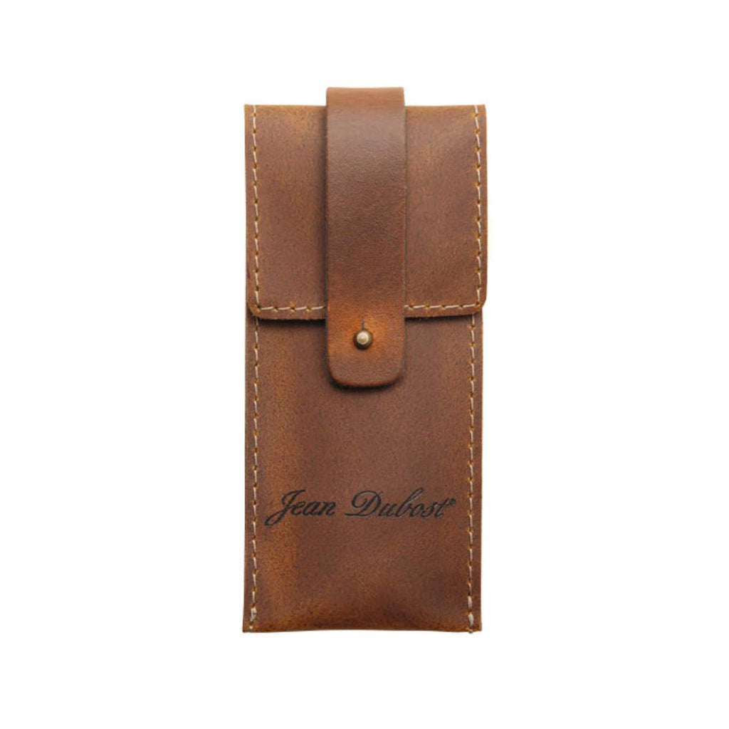 Jean Dubost Leather Knife Holder, Cognac Leather Knife Holder Jean Dubost