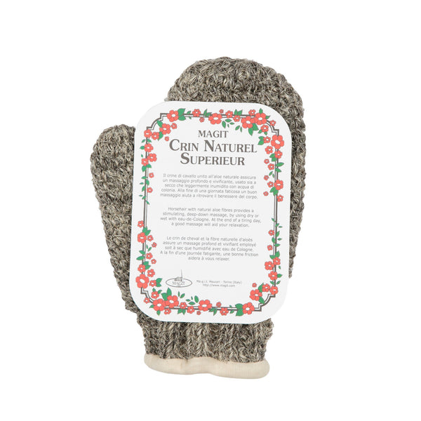 MAGIT Cotton Lined Horsehair Mitt, Handmade in Italy
