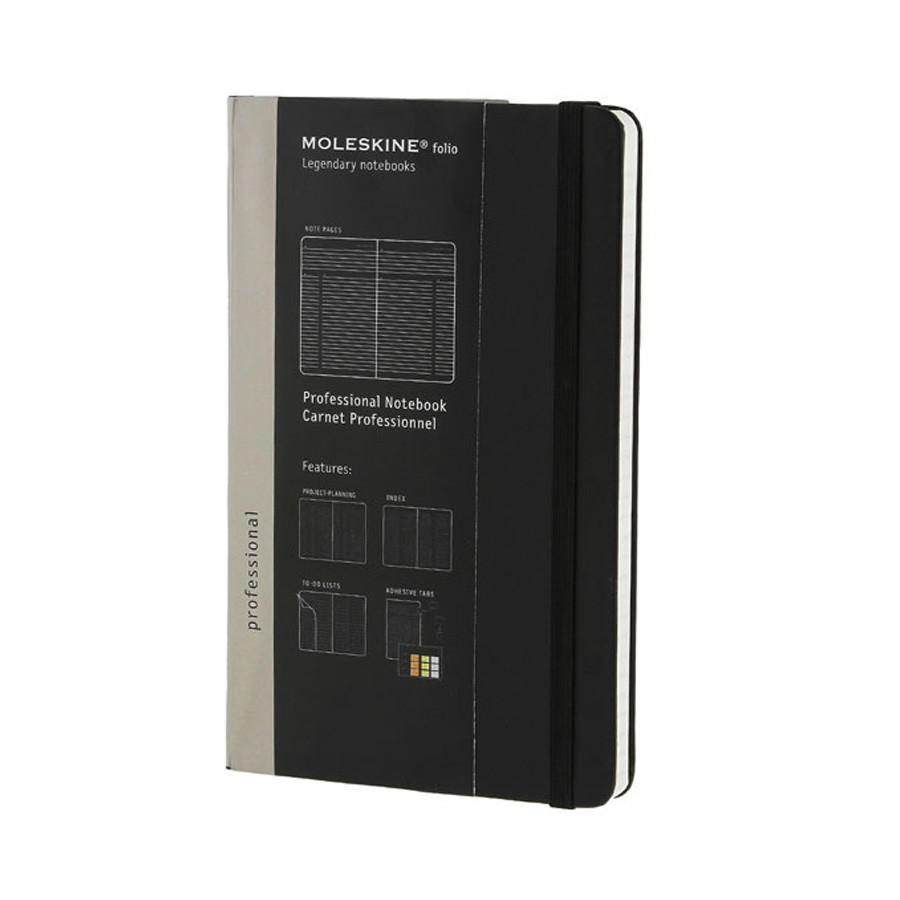 Moleskine Folio 5 x 8 Hard Cover Professional Notebook in Black Notebook Moleskine