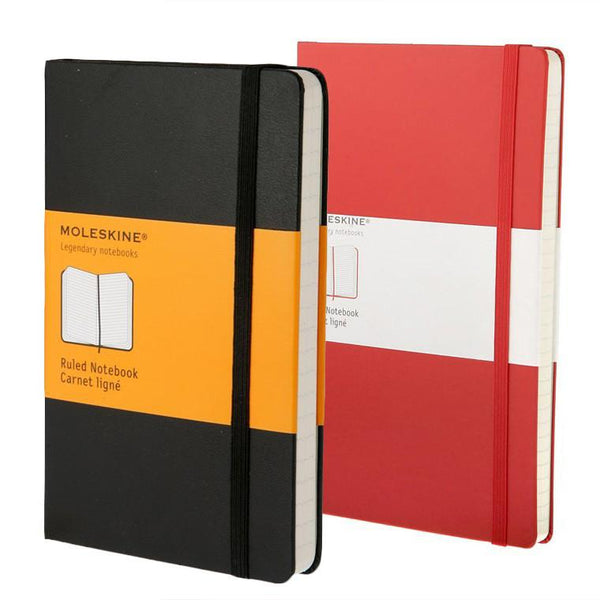 Moleskine 5 x 8 Hard Cover Notebook, Lined - Fendrihan - 1