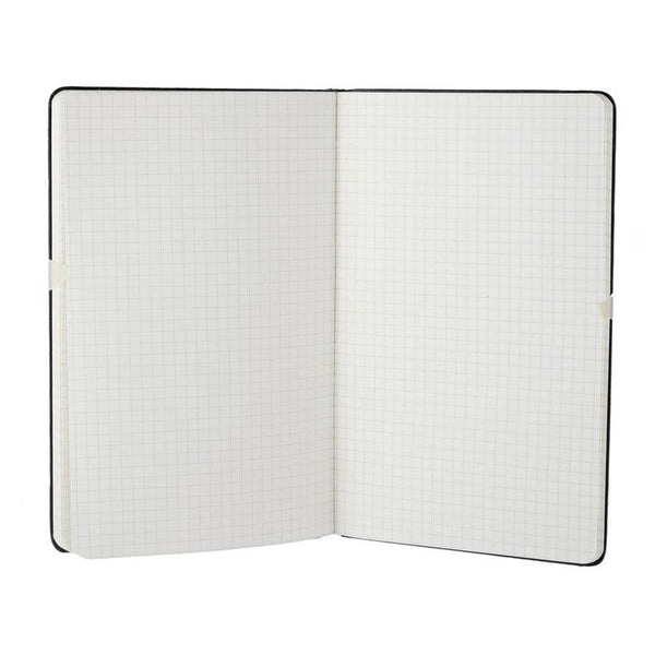 Moleskine 5 x 8 Hard Cover Notebook in Black, Squared - Fendrihan - 2