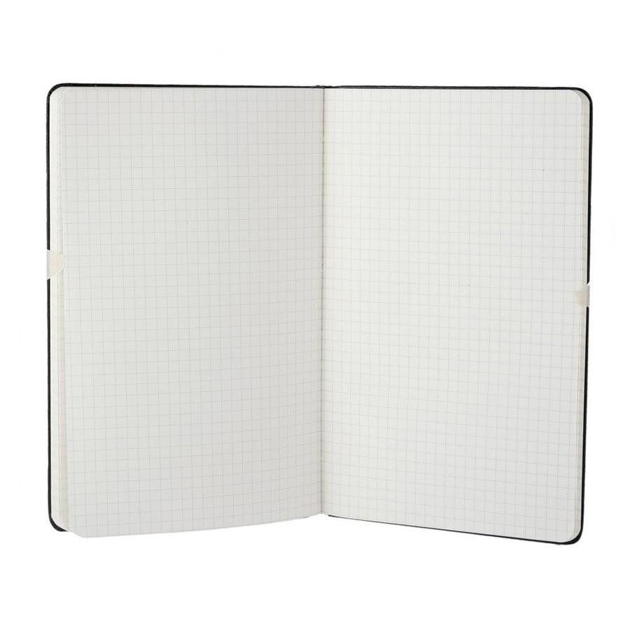 Moleskine 5 x 8 Hard Cover Notebook in Black, Squared Notebook Moleskine
