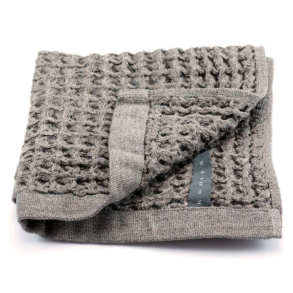 Kontex Cotton Lattice Wash Towel, Dark Grey - Fendrihan - 1