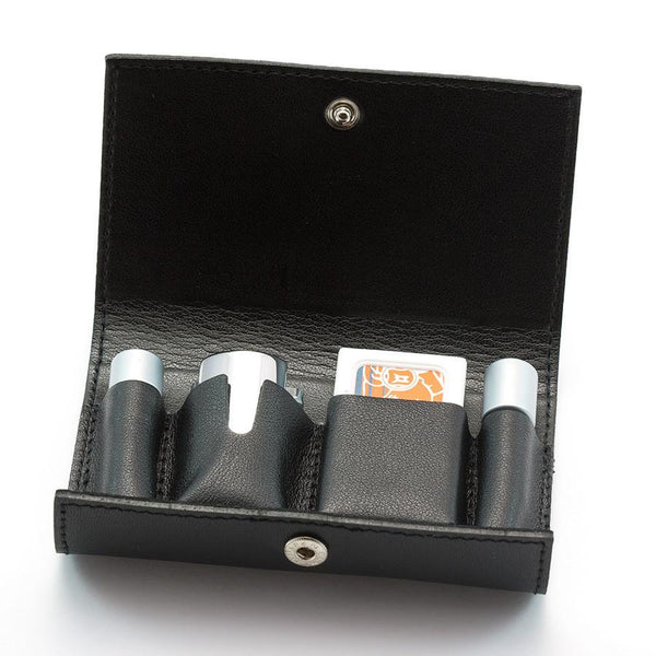 Merkur 46C 3-Piece Travel Razor in Leather Case - Fendrihan - 2