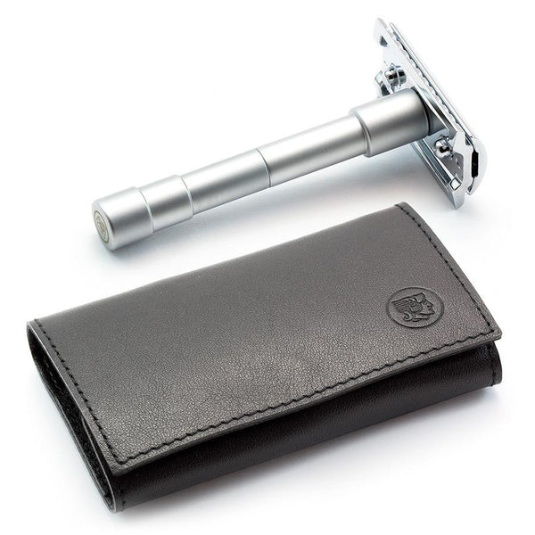 Merkur 46C 3-Piece Travel Razor in Leather Case - Fendrihan - 1