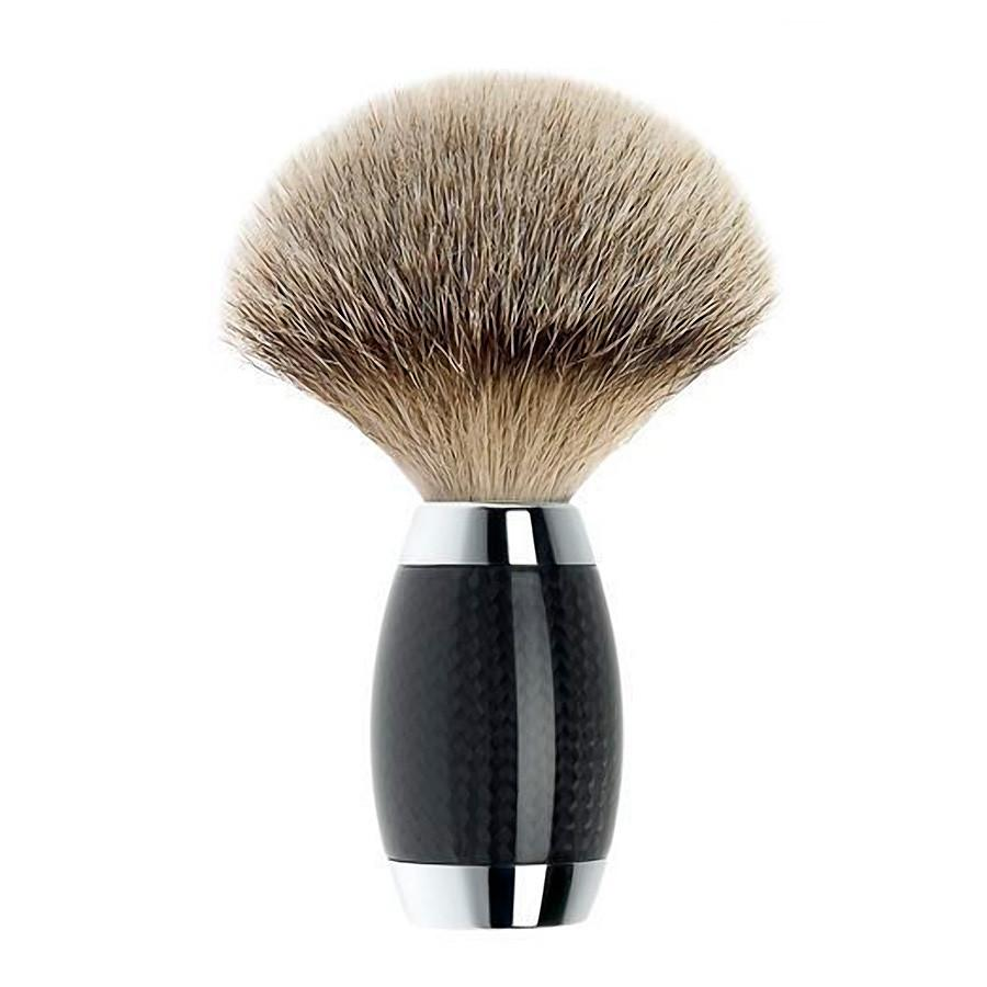 Muhle Edition No. 1 Silvertip Shaving Brush, Carbon Fiber Handle Badger Bristles Shaving Brush Discontinued