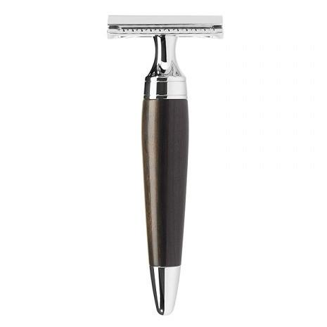 Muhle Stylo R75 Double-Edge Classic Safety Razor, African Blackwood Double Edge Safety Razor Muhle