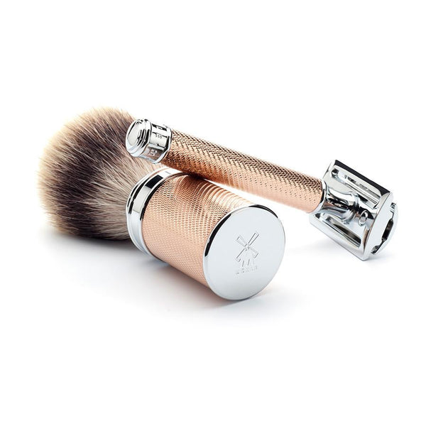 Muhle R89 Double-Edge Classic Safety Razor, Rose Gold Handle - Fendrihan - 3