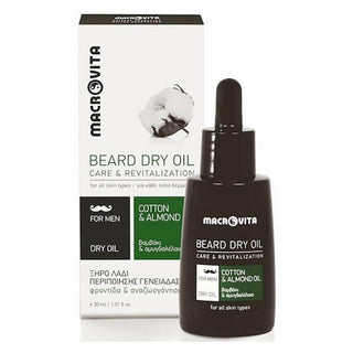 Macrovita Beard Dry Oil, Cotton & Almond Oil Beard Oil Macrovita