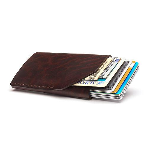 Bison No. 2 Wallet in Five Colors, English Bridle Leather by Hermann Oak, St. Louis - Fendrihan - 8
