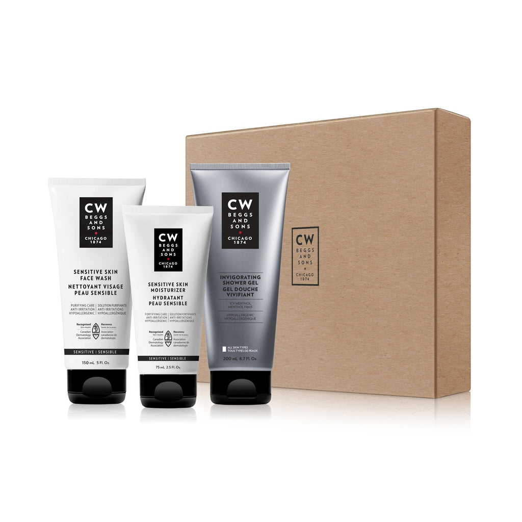 CW Beggs and Sons Sensitive Skin Routine Holiday Set Men's Grooming Kit CW Beggs and Sons