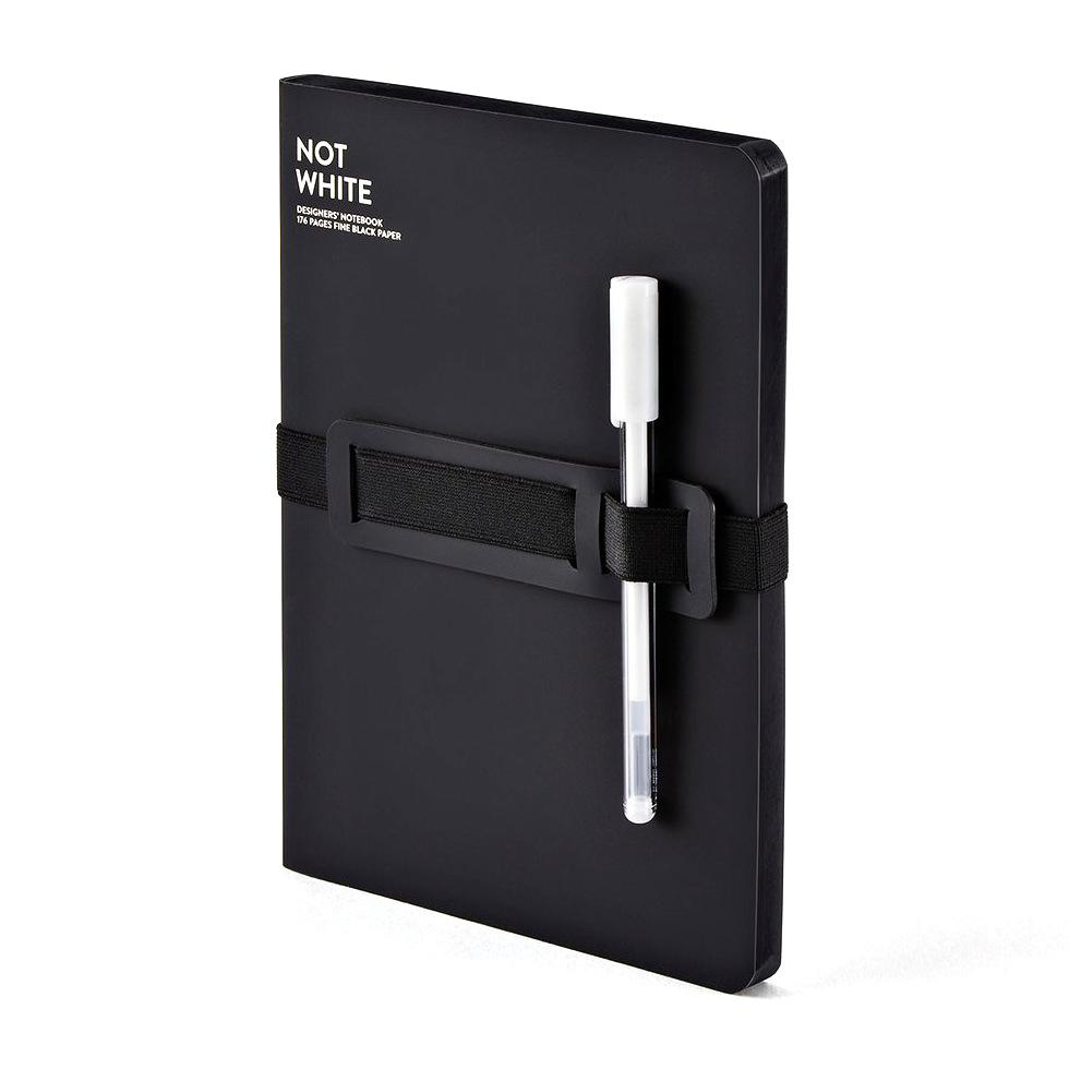 Nuuna NOT WHITE Light Designer's Notebook Notebook Nuuna Black