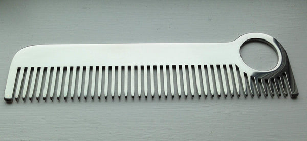 Chicago Comb Co. Model No. 1 Stainless Steel Medium Tooth Comb - Fendrihan - 4