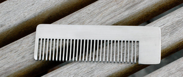 Chicago Comb Co. Model No. 4 Stainless Steel Medium-Fine Tooth Comb - Fendrihan - 4