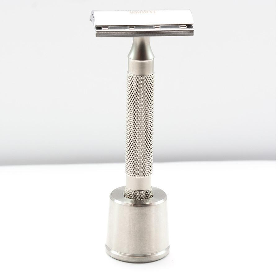 Fendrihan Brushed Stainless Steel Base Stand for Safety Razor Shaving Stand Fendrihan