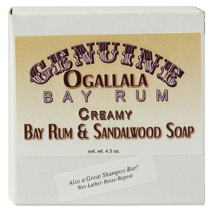Ogallala Creamy Bay Rum and Sandalwood Soap and Shampoo Bar Body Soap Ogallala Bay Rum