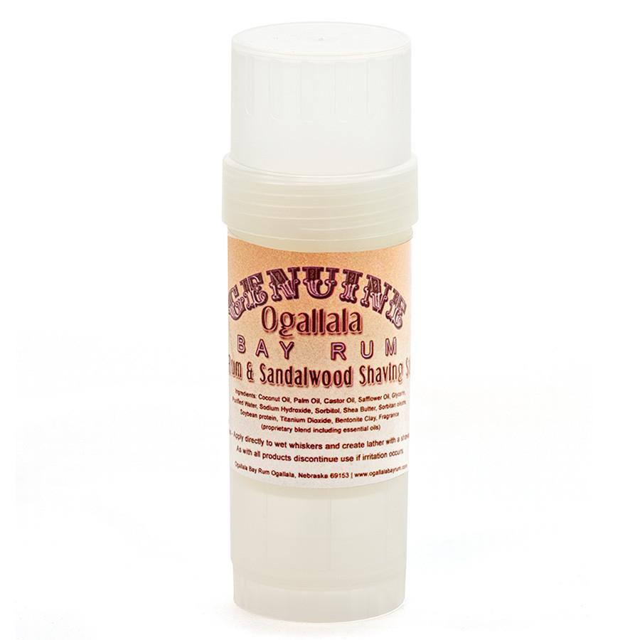 Ogallala Bay Rum and Sandalwood Shaving Soap Stick Shaving Cream Ogallala Bay Rum