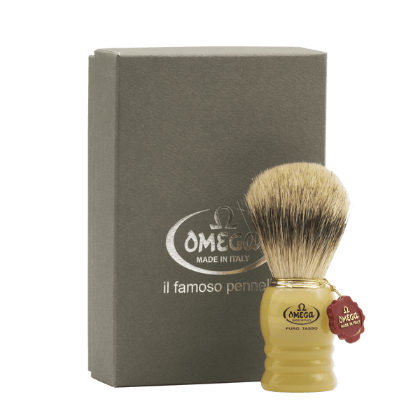 Omega 620 Silvertip Badger Shaving Brush - Fendrihan - 2