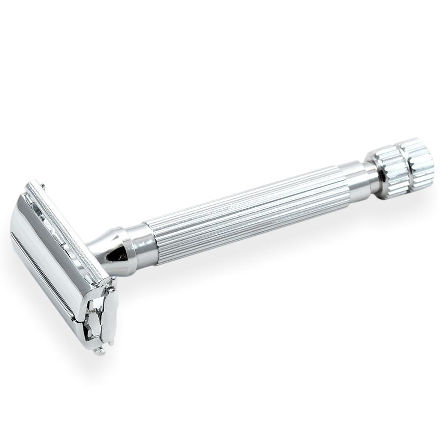 Assured Old Fashioned Safety Razor w//5 Double Edge Blades Vintage Style Shaver