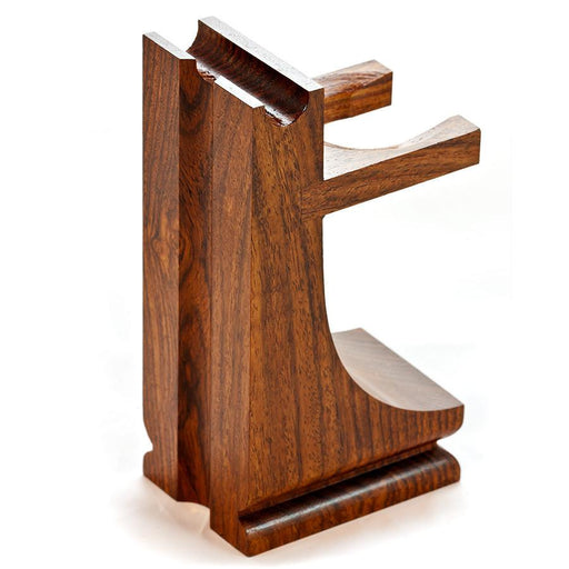 Parker Mission Style Wood Stand for Razor and Shaving Brush, Walnut Finish - Fendrihan